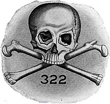 The Picture of the emblem of Skull and Bones